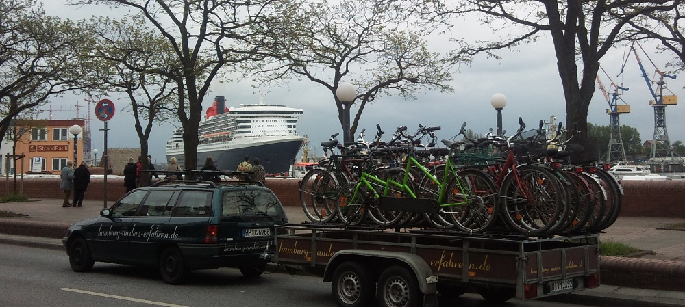 Bike rental with delivery and city tours in Hamburg