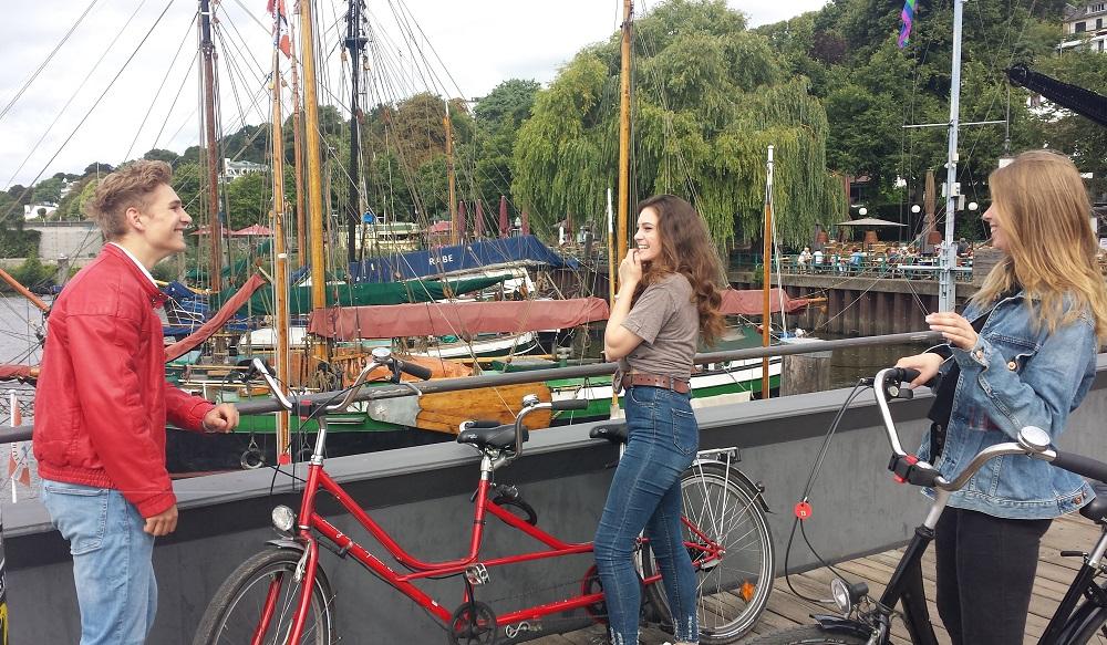 Tandem Spazierfahrt an der Waterkant von Hamburg